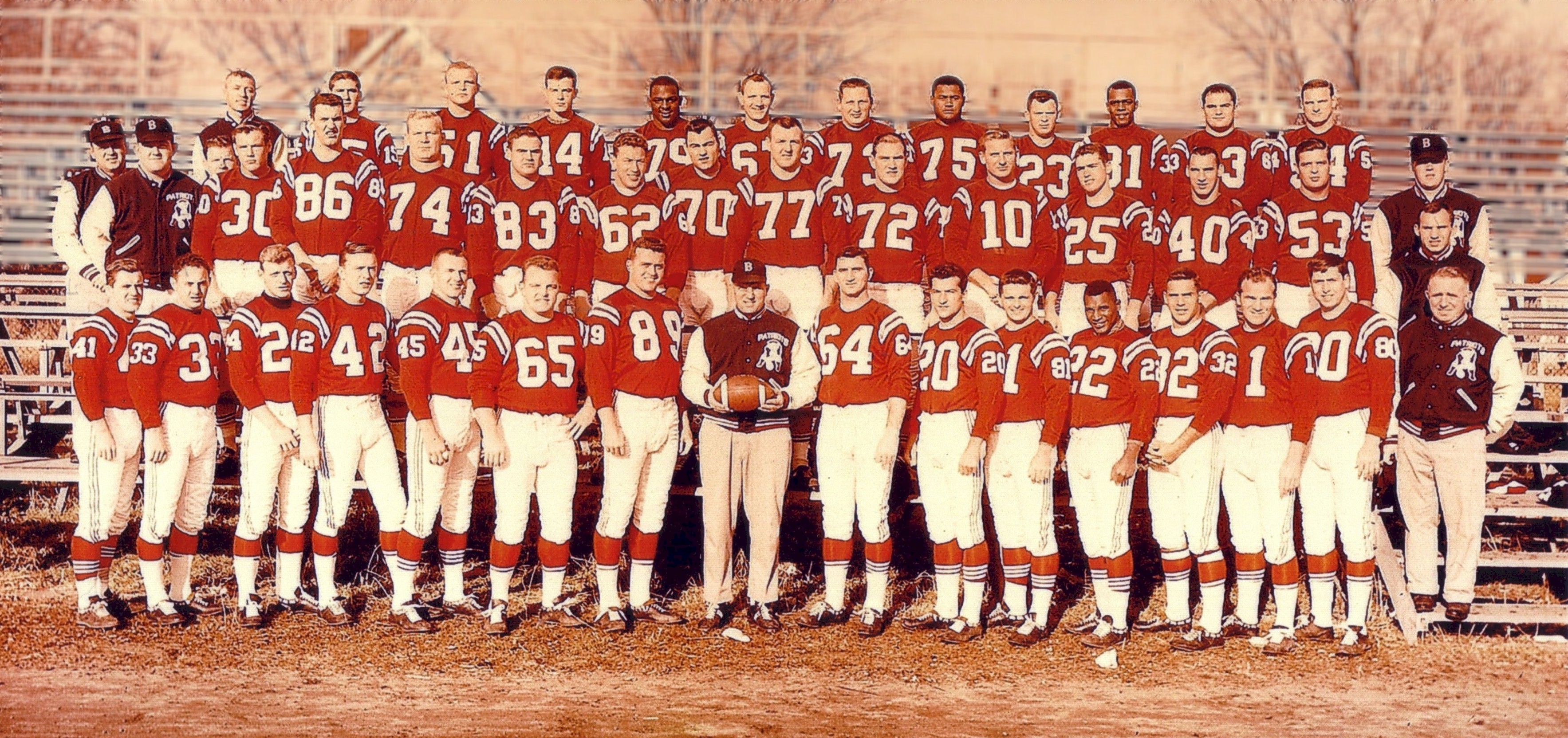 1960 Boston Patriots at training camp in Concord