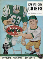 AFL game program (Kansas City Chiefs at New York Jets — November 24, 1963)