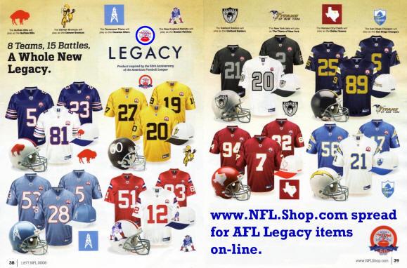 new product 6344c 19ae7 American Football League Throwbacks