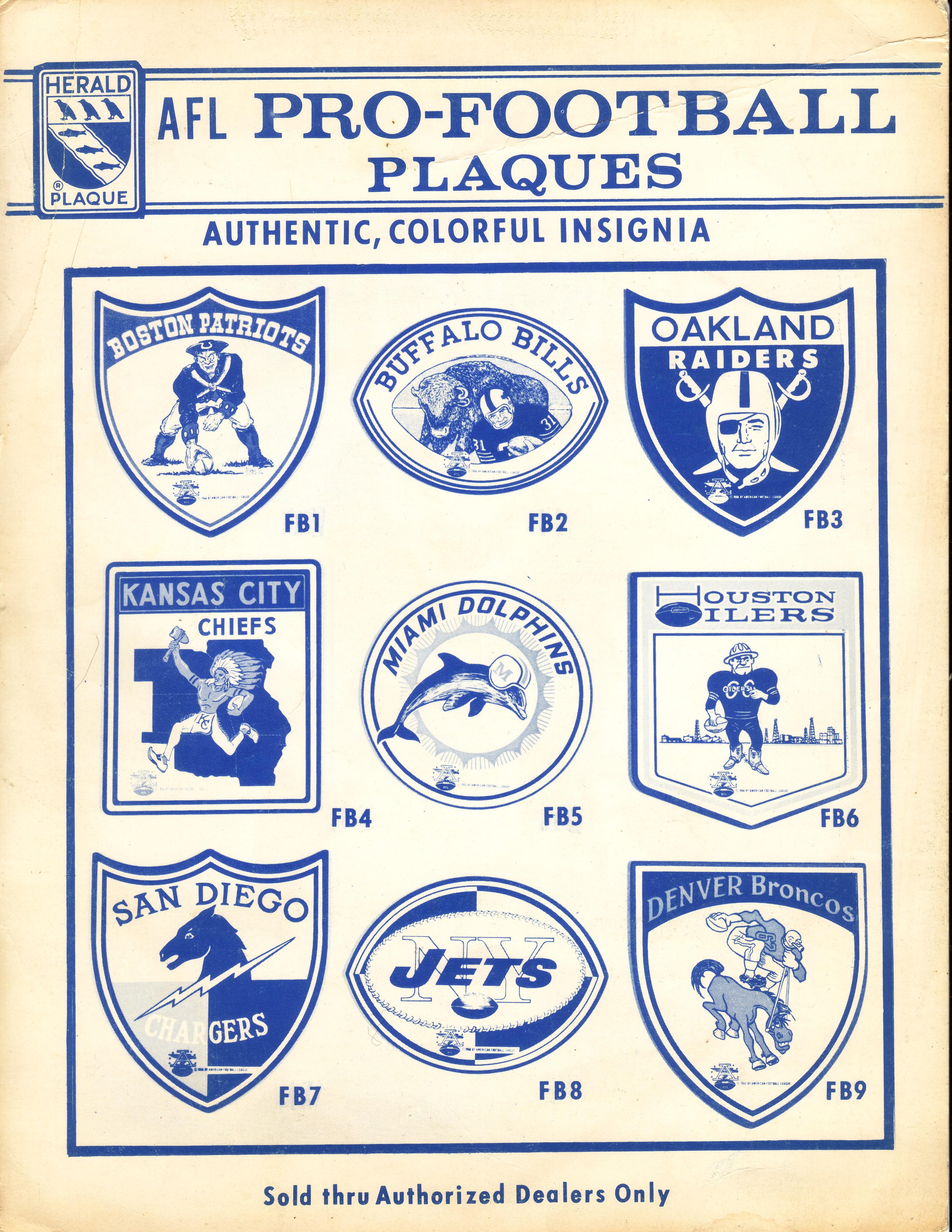 Image result for afl nfl 1968 team logos
