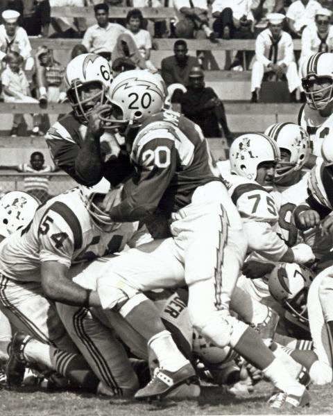 Phil Bissell Autographed 1961 Boston Patriots Vs Oakland Raiders Program AFL